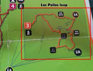 hiking rincon de la vieja national park - las pailas loop map