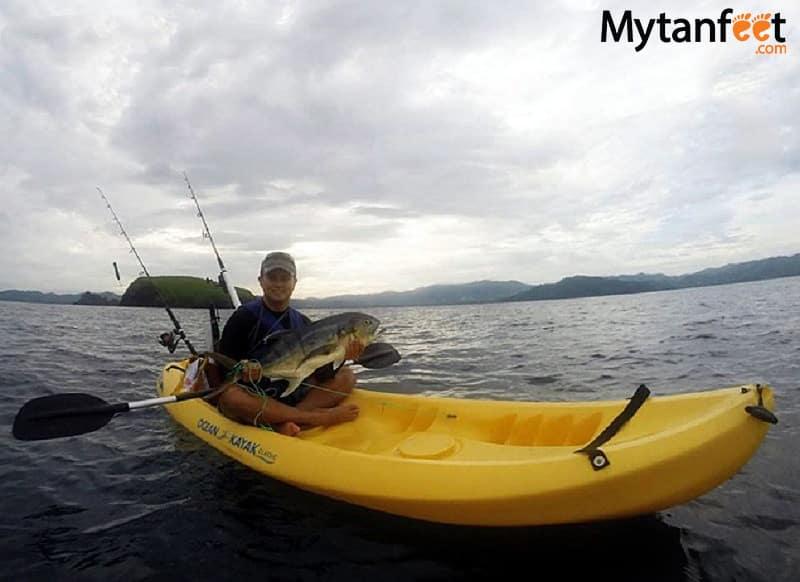 Fishing Playas del COco kayak fishing