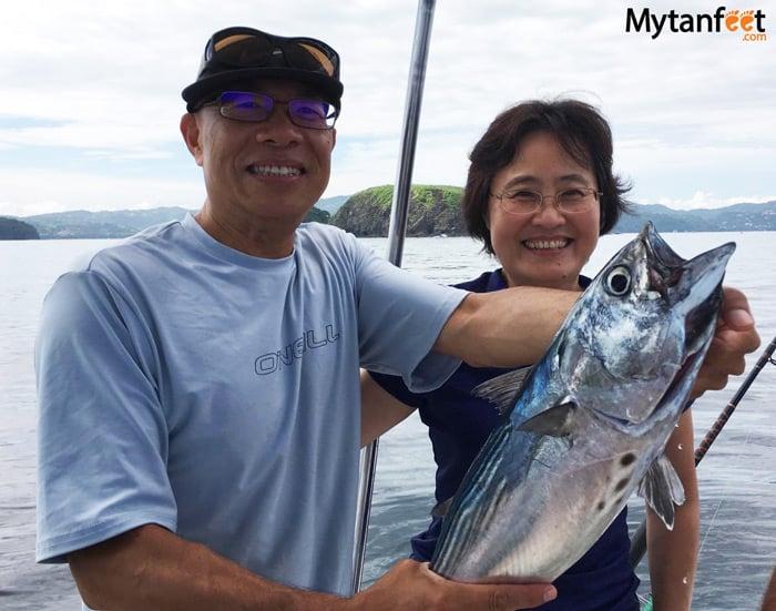 Fishing Playas del Coco - black tuna trolling