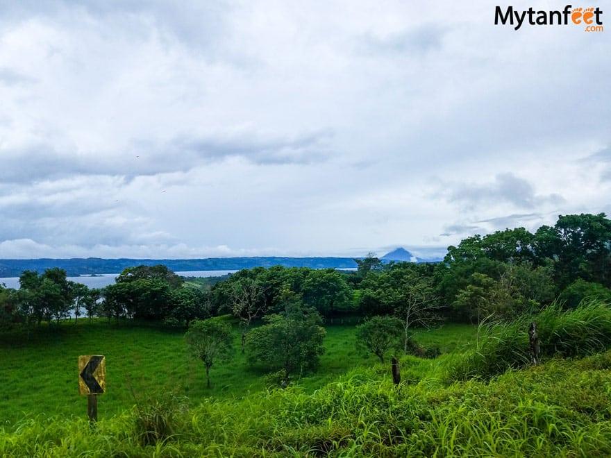 views of lake arenal volcano