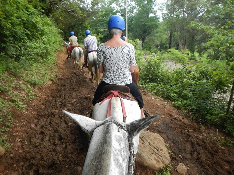 guachipelin combo tour - horseback riding