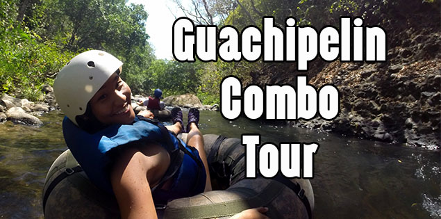 guachipelin combo tour - this combo tour in rincon de la vieja national park consists of ziplining, horseback riding, white water tubing, lunch, waterfall, hot springs and mud baths