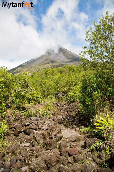 Arenal Volcano National Park - hiking the national park, view from senderos colados trail