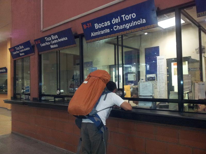 planning our trip to panama from Costa rica - buying bus tickets to Almirante (Bocas)
