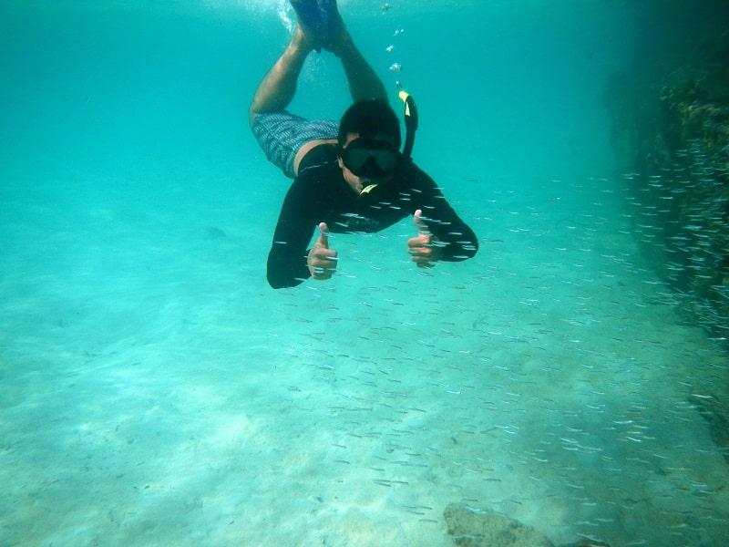 san blas islands panama - snorkeling at dog island