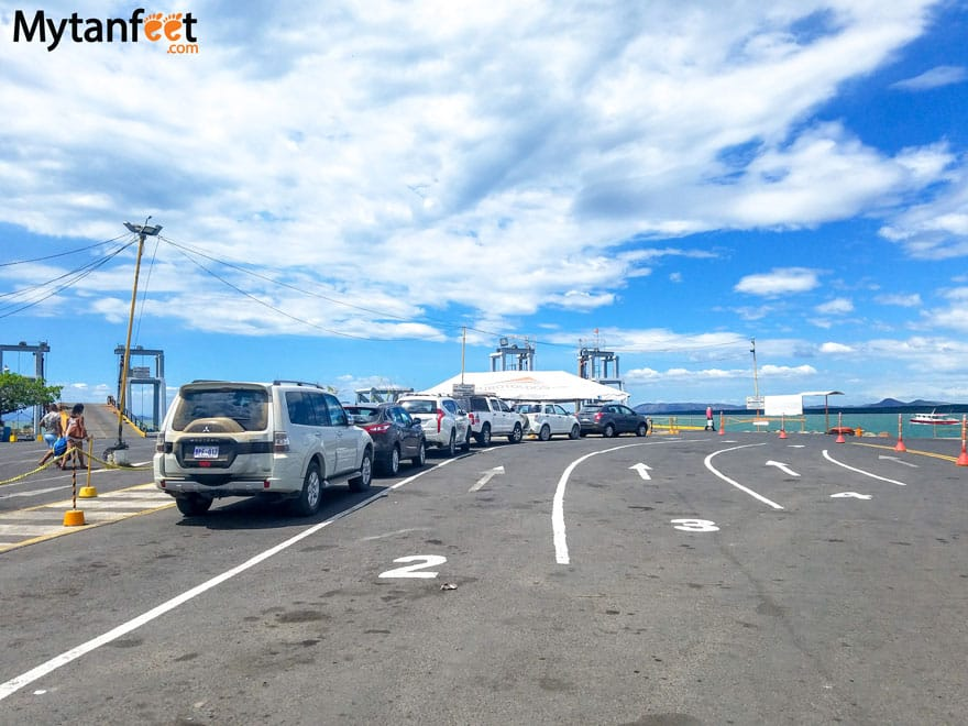 Car loading area of ferry