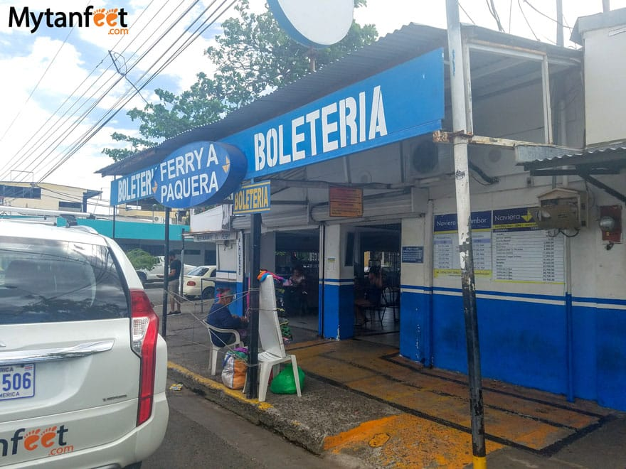 Ferry from Puntarenas to Paquera - ticket office