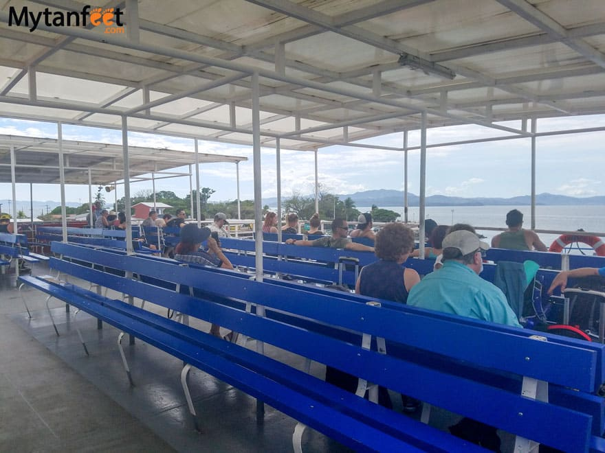 Puntarenas Paquera Ferry sitting areas