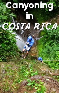 canyoning in arenal