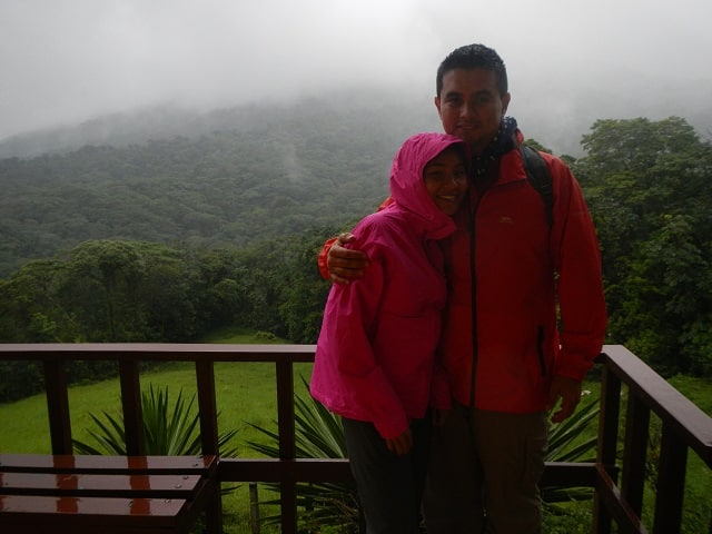 hiking Cerro Chato raining day about to go hiking