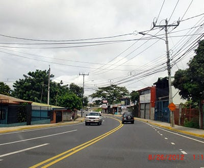 Roads in San Jose, Costa Rica