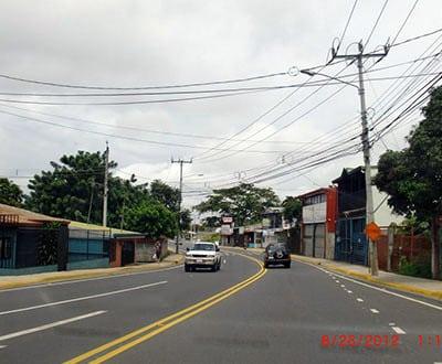 Roads in San Jose, Costa Rica
