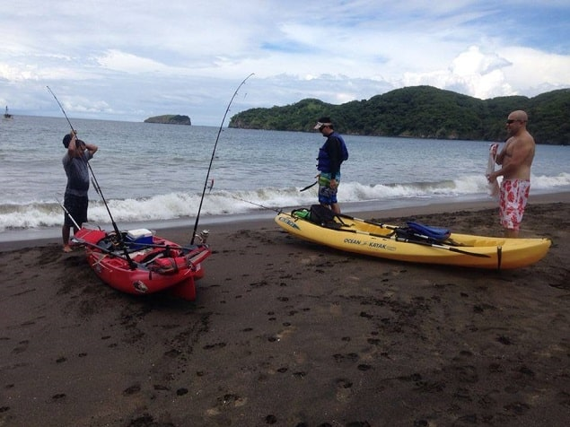 kayak fishing in Playas del Coco