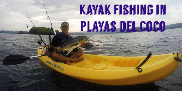 kayak fishing in playas del coco