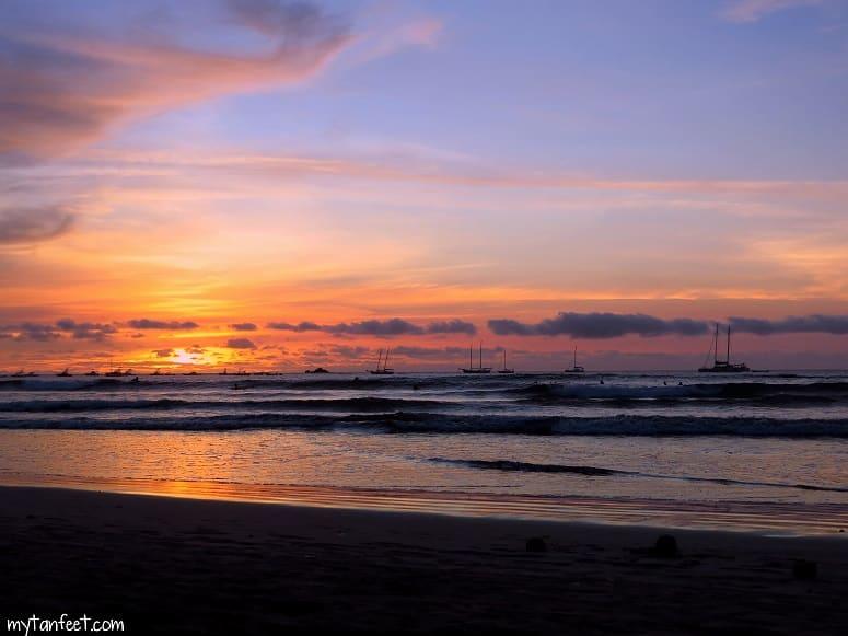 Playa Tamarindo, Costa Rica sunset