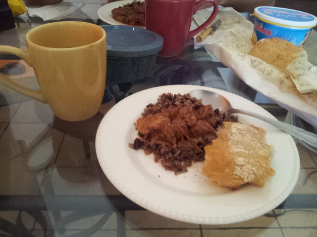 New Year traditions in Costa Rica - gallo pinto for hangover breakfast