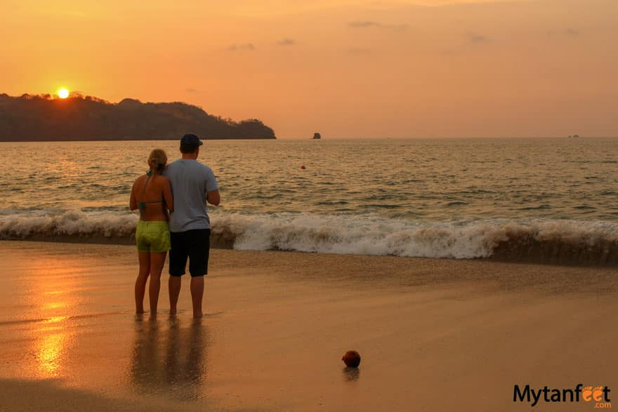 Romantic things to do in Costa Rica - sunset on the beach
