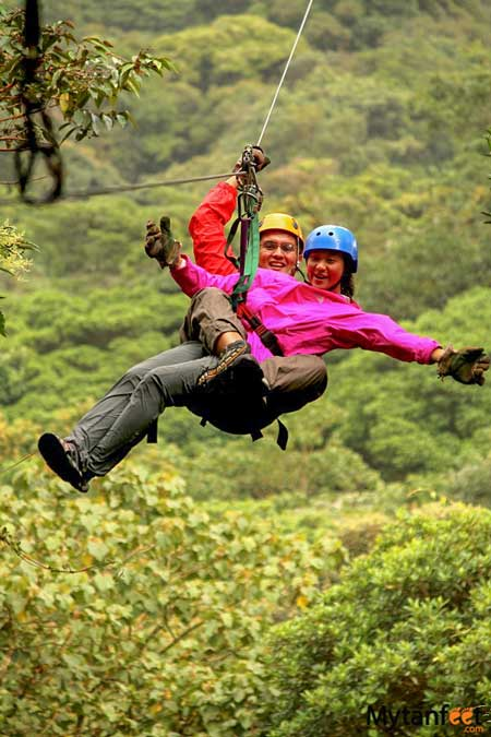Romantic things to do in Costa Rica - ziplining