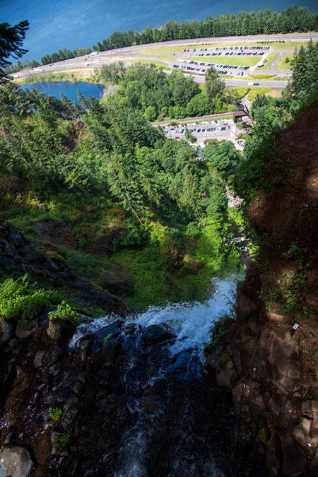Columbia River Gorge - Top of Multnomah falls