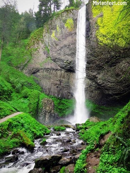 columbia river gorge national scenic area - latourrel falls