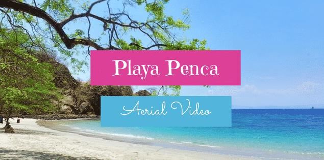 playa penca aerial video