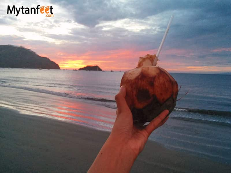 things to do in costa rica -Pipa fria coconut water