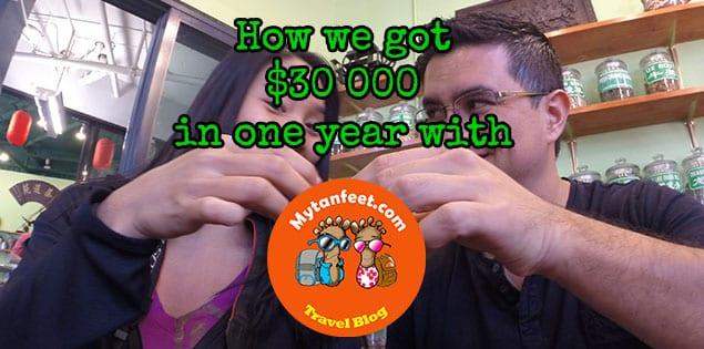 got 30,000 blogging