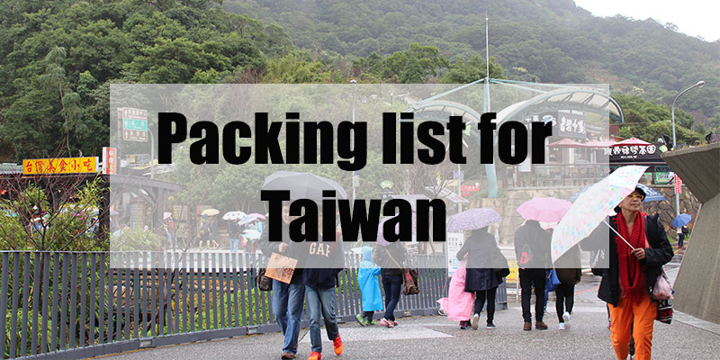 packing for taiwan