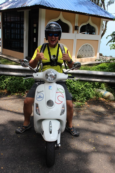 Cost of travel in Malaysia - renting a Vespa in Georgetown