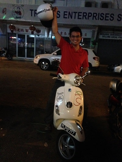 Renting a Scooter in Georgetown Penang