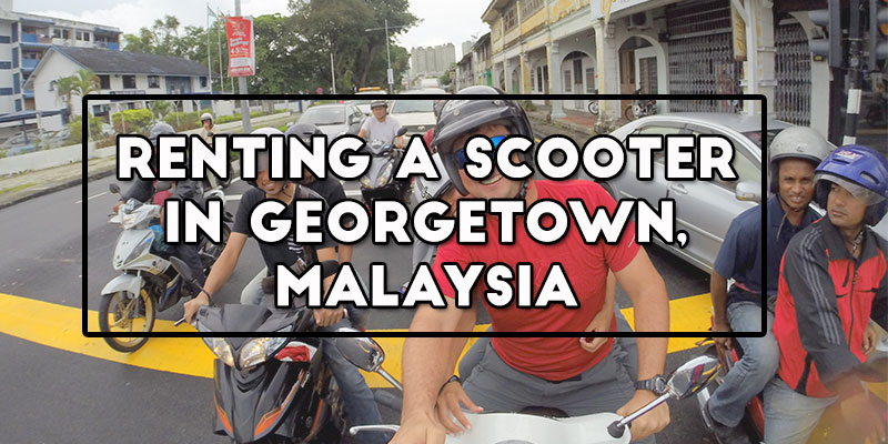 renting a scooter in georgetown