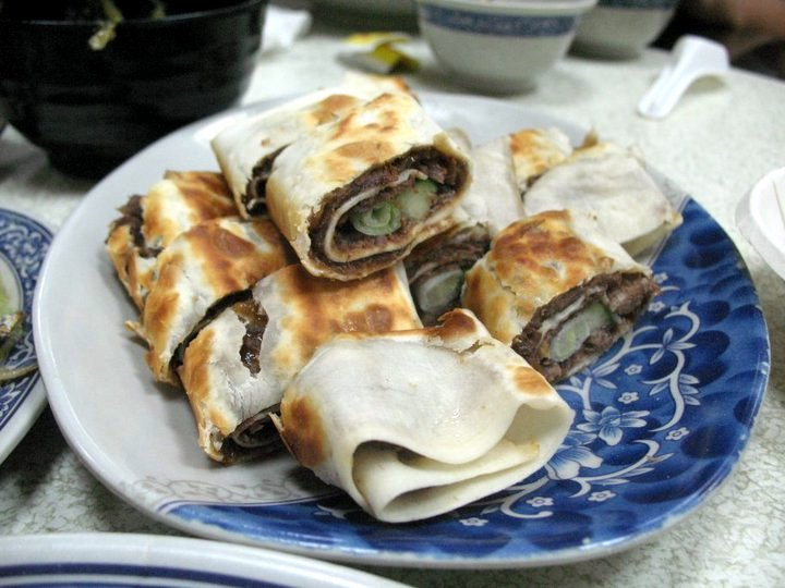 best taiwanese food beef wrapped pancake