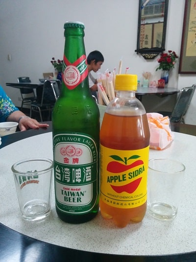 best taiwanese food beer and apple sidra