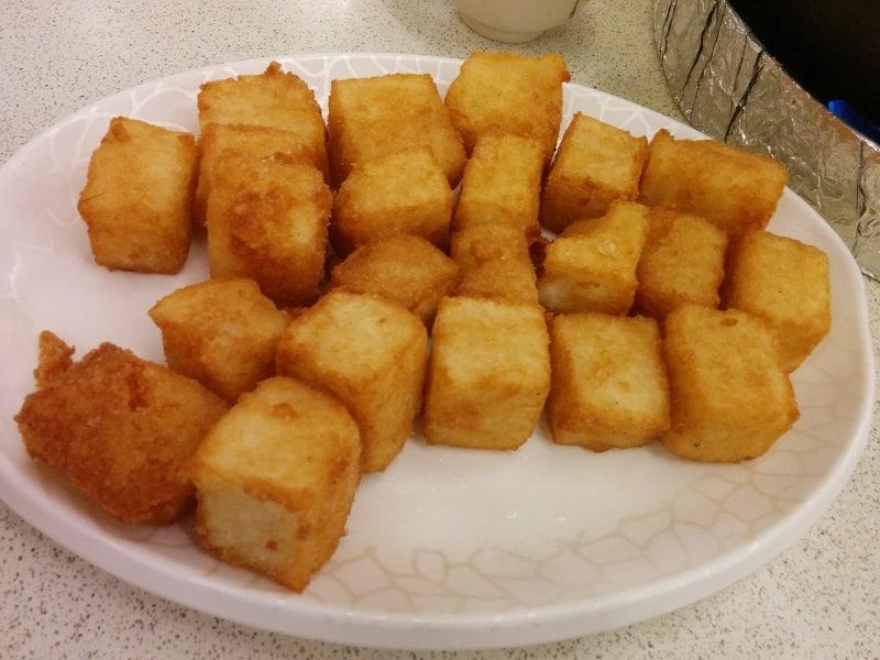 best taiwanese food radish cake