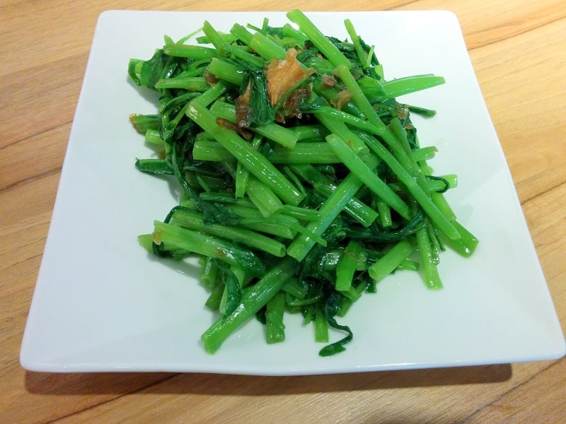 best taiwanese food water spinach