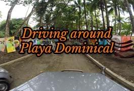 driving around playa dominical