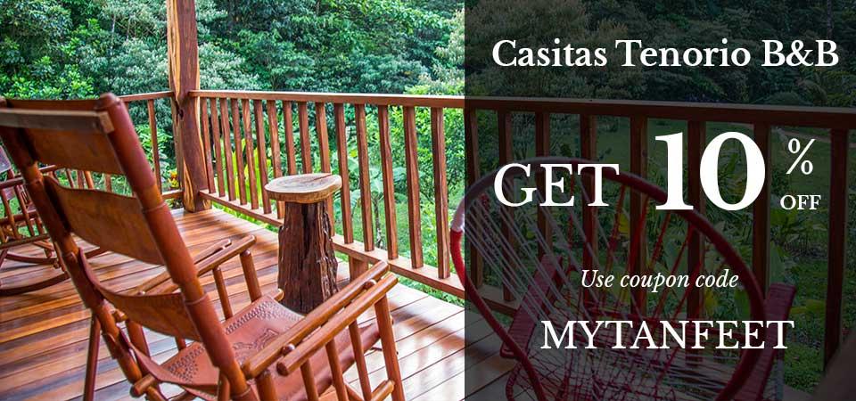 Casitas Tenorio Bed and Breakfast in Bijagua Special Discount Promo Code