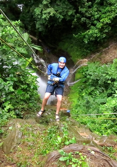 adventure activities in costa rica - canyoning arenal