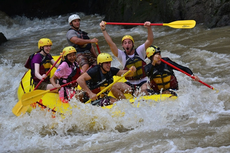 adventure activities in costa rica - white water rafting