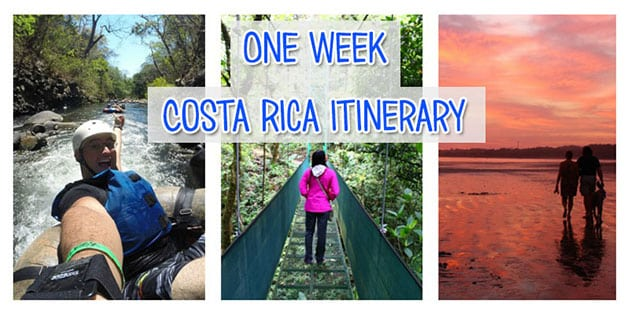 One week Costa Rica itinerary - National parks, beaches and cloud forest