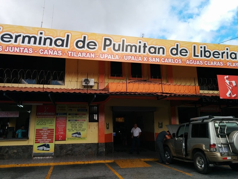 taking the bus from san jose to playas del coco pulmitan bus station