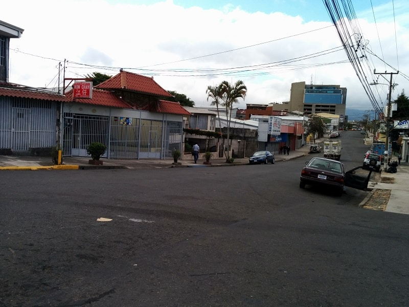 taking the bus from san jose to playas del coco street of pulmitan bus station in san jose