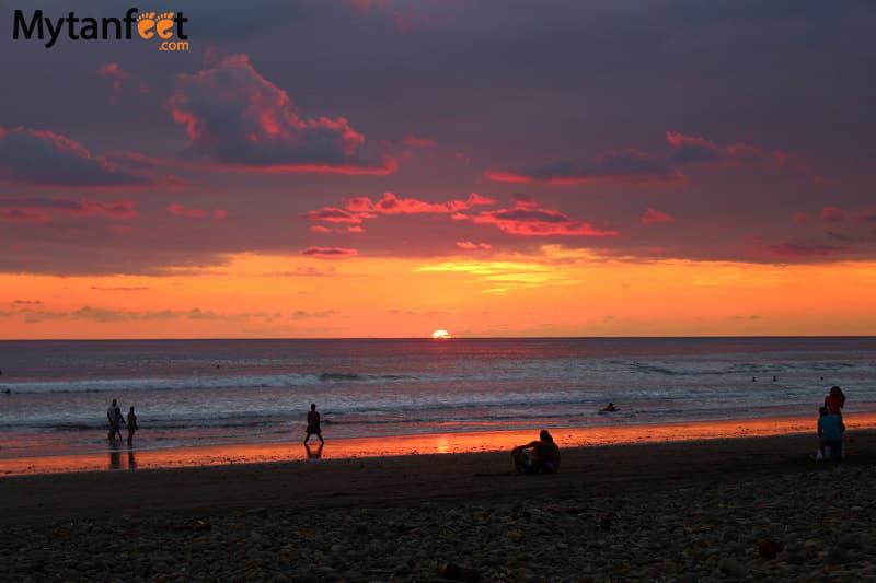Playa Dominical Costa Rica beach sunset