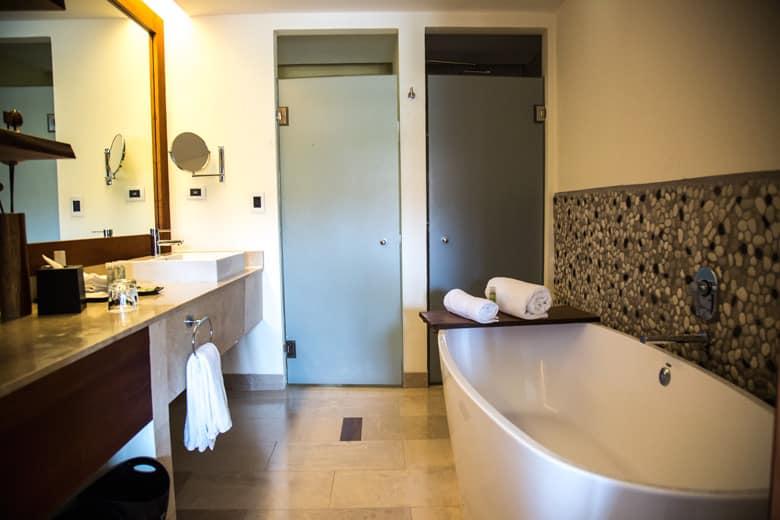 westin golf resort and spa in Playa conchal - Royal Beach Club bathroom