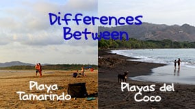 differences between playas del coco and playa tamarindo featured