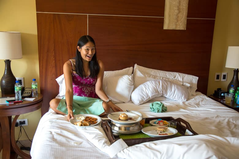 westin golf resort and spa in Playa conchal - room service at royal beach club