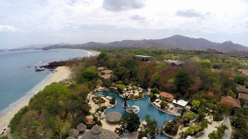 westin golf resort and spa in Playa conchal aerial view