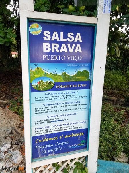 Bus stop in Costa Rica