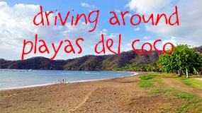 driving around playas del coco featured