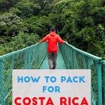 packing for costa rica rainy season pin 1